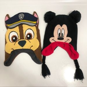Mickey Mouse and Chase Paw Patrol Beanie Hats